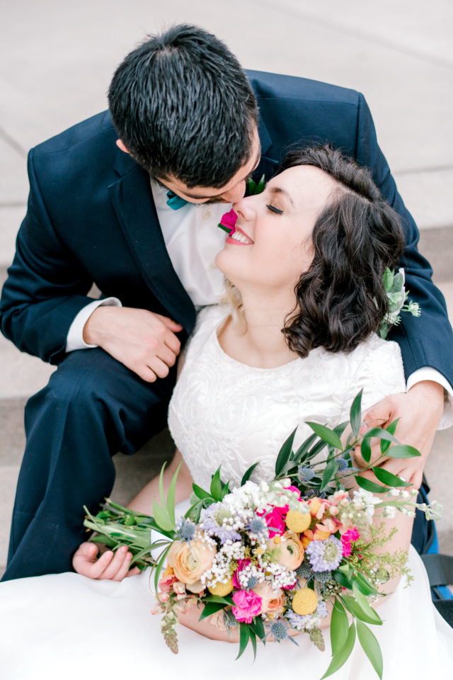 Colorful wedding at Big Stone Lodge in Spring Texas