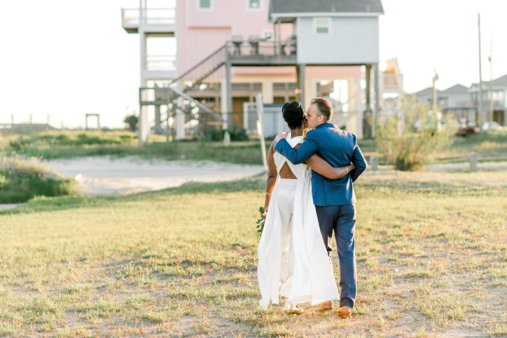 Port Bolivar wedding at sunset on the beach